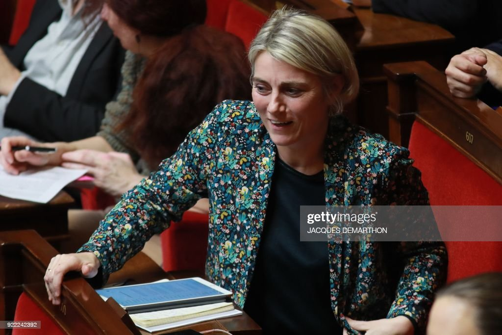 La Republique En Marche (LREM) party member of parliament Stephanie Rist attends a session of questions to the government at the National Assembly in Paris on February 21, 2018. /