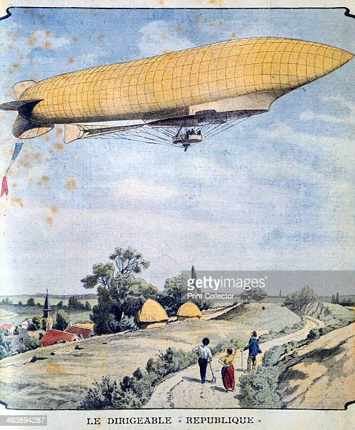 'La Republique' on her maiden flight 1908 The French military airship 'La Republique' on her maiden flight from Paris to Compiegne From Le Petit...