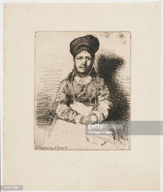 La Retameuse. One of the Twelve Etchings from Nature , 1858. Artist James Abbott McNeill Whistler.
