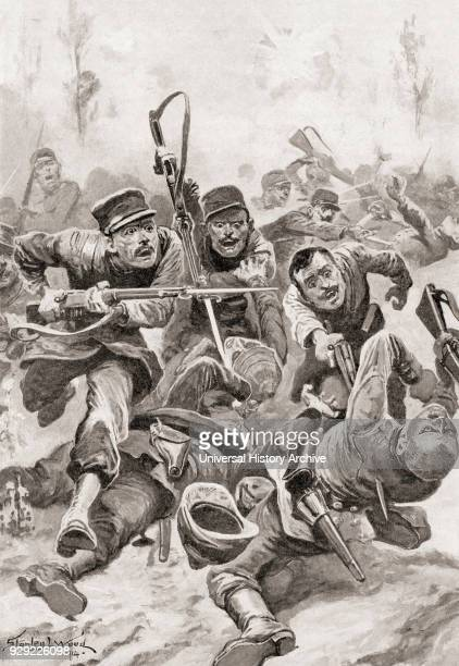 La Revanche The French advance to AltkirchAlsace France during World War One From The History of the Great War published c 1919