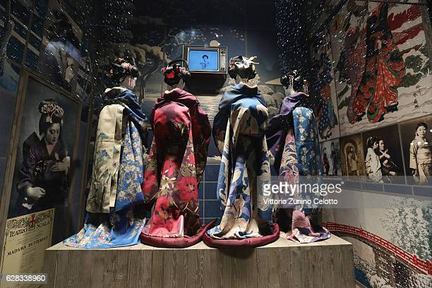 La Rinascente shop windows are dedicated to Madama Butterfly opera by Giacomo Puccini for the opening of the Teatro alla Scala Season 2016/17 on...