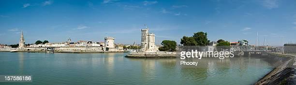 la rochelle harbour panoramic - la rochelle stock pictures, royalty-free photos & images