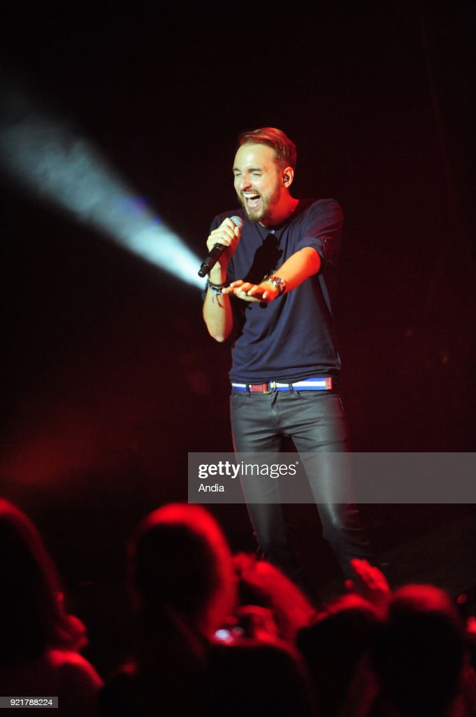 Les Francofolies 2015, annual music festival, from July 10 to 14, 2015. Christophe Willem in concert.
