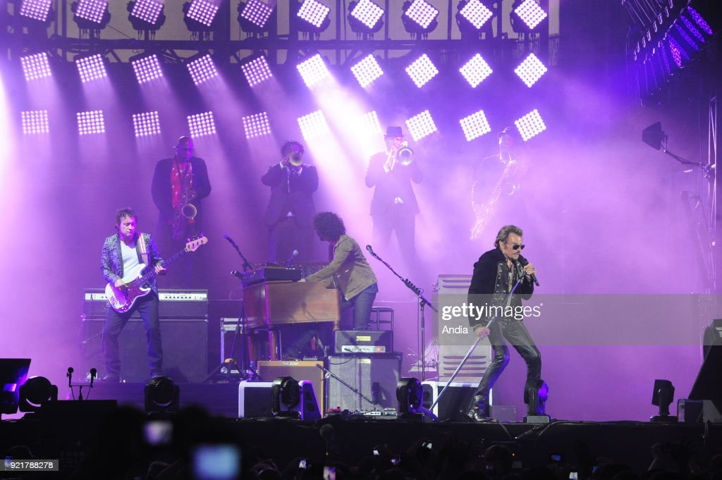 Les Francofolies 2015, annual music festival, from July 10 to 14, 2015. Johnny Hallyday in concert.