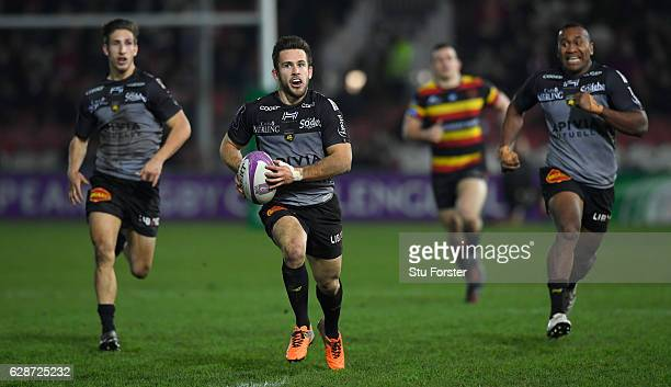 La Rochelle player Zack Holmes in action during the European Rugby Challenge Cup match between Gloucester Rugby and Stade Rochelais at Kingsholm on...