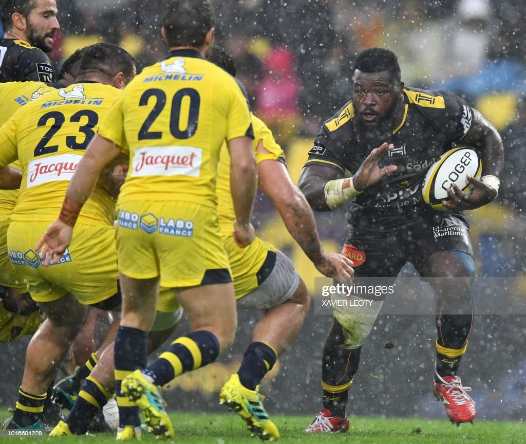 RUGBYU-FRA-TOP14-LA ROCHELLE-CLERMONT : News Photo