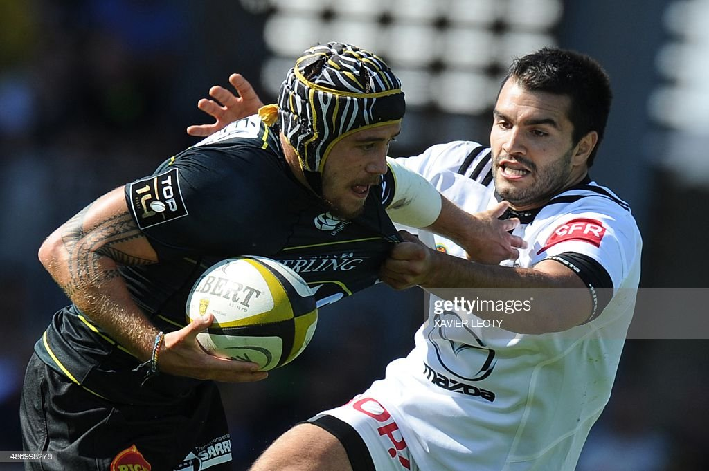 La Roce S French Winger Gabriel Lacroix Vies For The With Brive Thomas Laranjeira During Top 14 Rugby Union Match Vs On