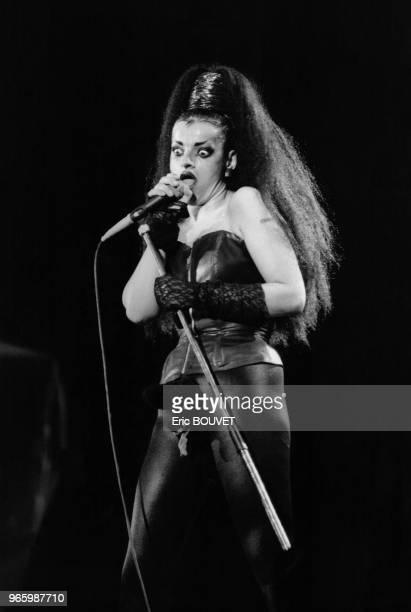 La rockeuse Nina Hagen en concert au stade olympique de Athènes Grèce en juillet 1985
