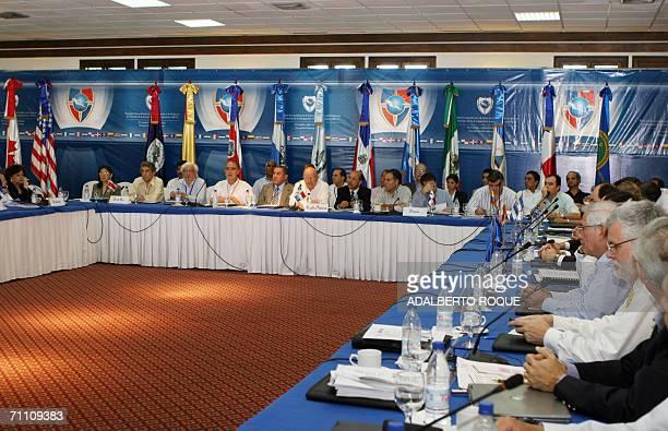 Delegaciones de varios paises de centroamerica y el caribe participan el 02 de Junio de 2006 en la inauguracion de la Reunion Extraordinaria de Jefes...