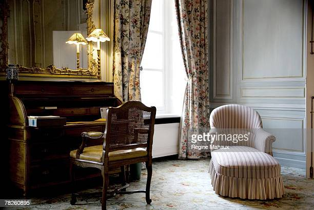'La Roseraie' bedroom suite Each suite at the Veuve Clicquot Private Mansion bears the name of the Braqueni fabrics which it is decorated with Veuve...