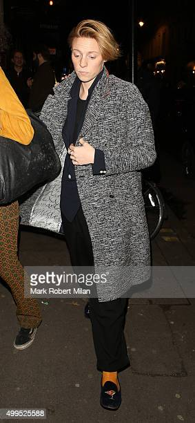 La Roux attending the Absolutely Fabulous film Wrap party at U restaurant on December 1 2015 in London England