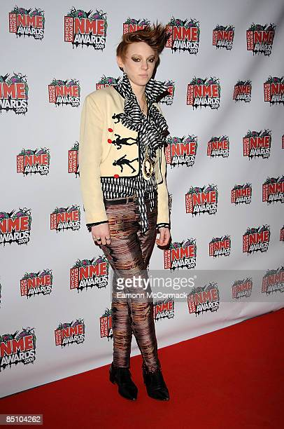 La Roux attends the Shockwaves NME Awards at O2 Academy Brixton on February 25 2009 in London England