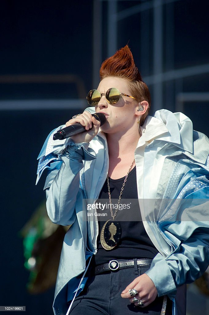 La Roux performs live on the Other Stage during Day 2 of the Glastonbury Festival on June 25, 2010 in Glastonbury, England. This year sees the 40th anniversary of the festival which was started by a dairy farmer, Michael Evis, in 1970 and has grown into the largest music festival in Europe.