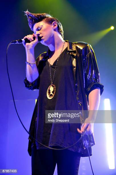 La Roux performs on stage at Koko London on the NME Radar Tour at KOKO on May 19 2009 in London England
