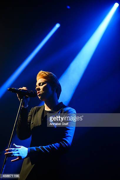 La Roux performs on stage at Shepherds Bush Empire on November 12 2014 in London United Kingdom