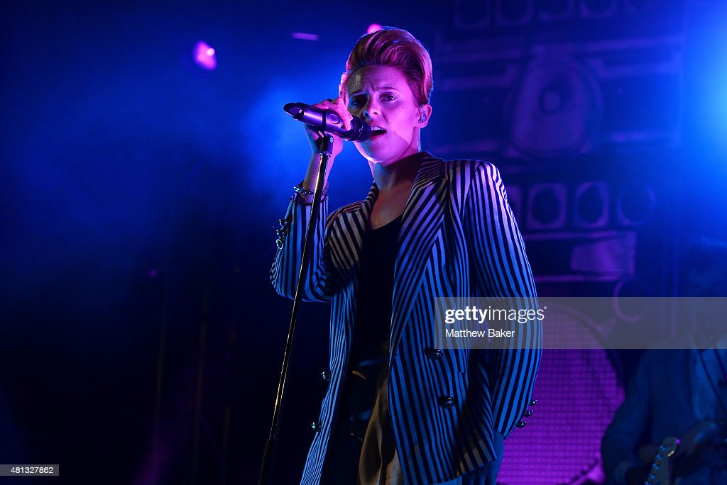 La Roux performs on the BBC Radio 6 Music stage on day 4 of Latitude Festival at Henham Park Estate on July 19, 2015 in Southwold, England.
