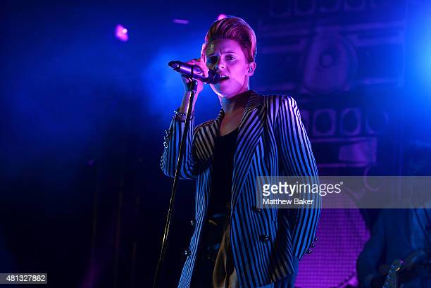 La Roux performs on the BBC Radio 6 Music stage on day 4 of Latitude Festival at Henham Park Estate on July 19 2015 in Southwold England