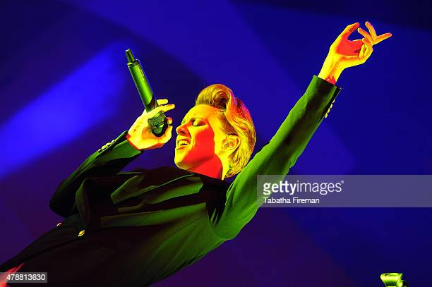 La Roux performs on the John Peel stage at the Glastonbury Festival at Worthy Farm Pilton on June 27 2015 in Glastonbury England