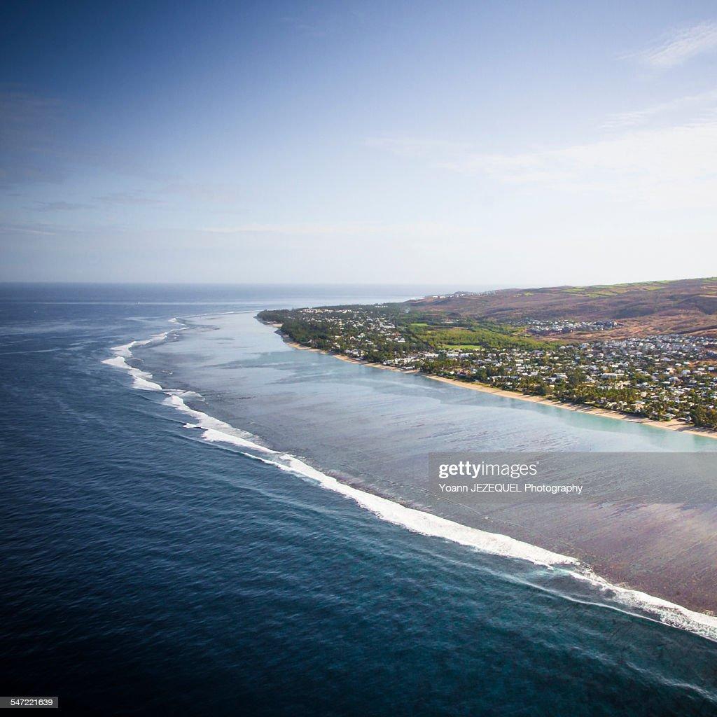 La Réunion island, view of the lagoon : Photo