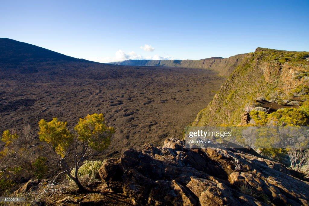 La Réunion, volcano Piton de la Fournaise : Stock Photo