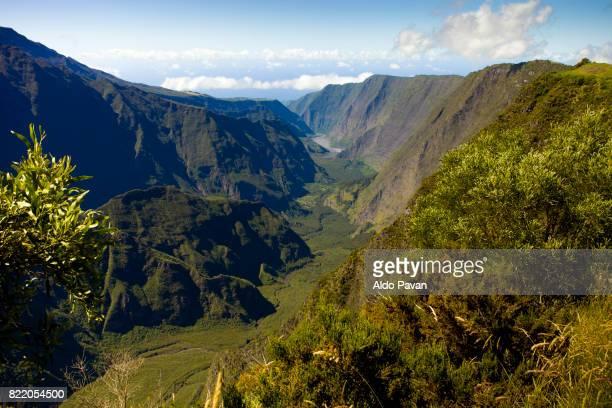 la réunion, volcano piton de la fournaise - isla reunion fotografías e imágenes de stock