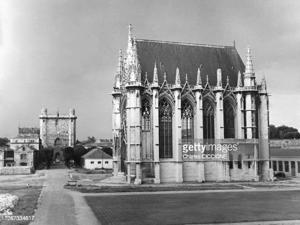 La Sainte-Chapelle du château de Vincennes, circa 1970, dans le Val-de-Marne, France.