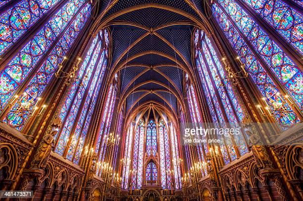 La Sainte-Chapelle Upper Chapel, Paris, France