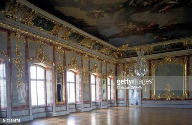 La salle du trône du château de Rundale dans le district de Bauska Lettonie