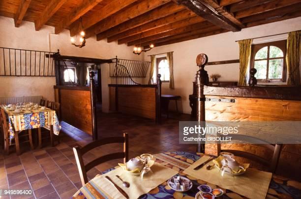 La salle à manger du gite de la Herserie à la CroixenTouraine en IndreetLoire France