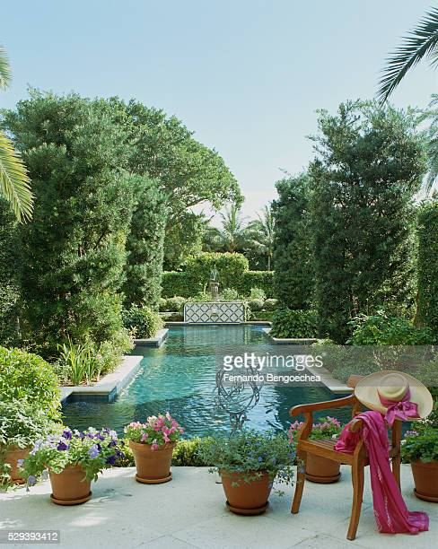 la salona: pool and yard - fernando bengoechea stock pictures, royalty-free photos & images