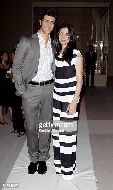 La Scala ballet etoile Roberto Bolle and Beatrice Carbone attend Salvatore Ferragamo fashion show as part of Milan Fashion Week Spring/Summer 2009 on...