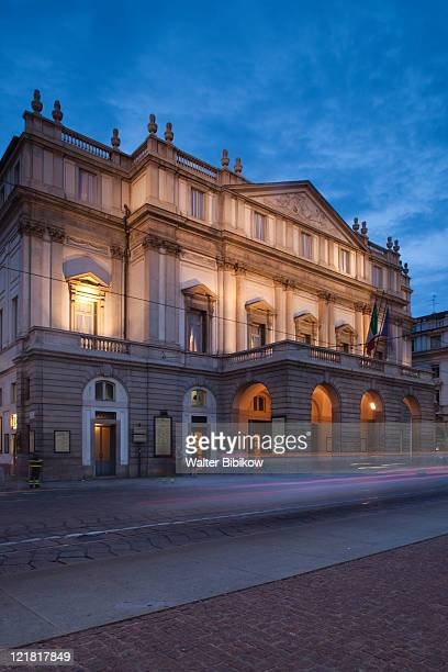 la scala opera house, teatro alla scala, milan, lombardy, italy  - la scala theatre stock pictures, royalty-free photos & images