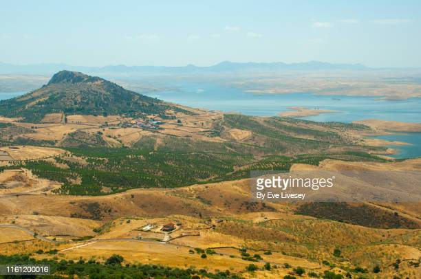 la serena reservoir - extremadura stock pictures, royalty-free photos & images