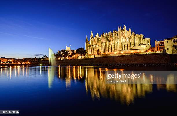 la seu - cathedral of palma de mallorca - palma majorca stock photos and pictures