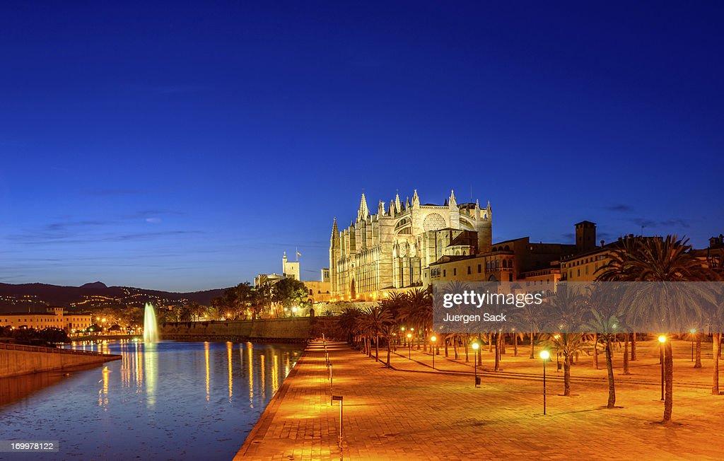 La Seu-Catedral de Palma de Mallorca : Foto de stock