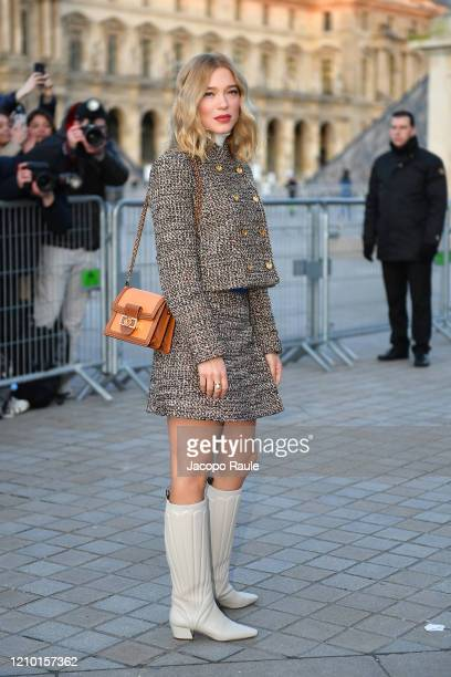 Léa Seydoux attends the Louis Vuitton show as part of the Paris Fashion Week Womenswear Fall/Winter 2020/2021 on March 03, 2020 in Paris, France.