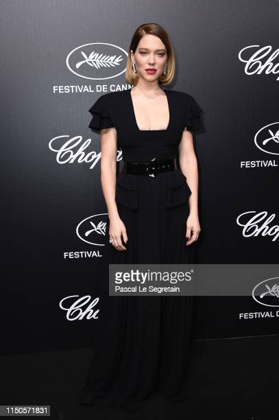 Léa Seydoux attends the Official Trophee Chopard Dinner Photocall as part of the 72nd Cannes International Film Festival on May 20 2019 in Cannes...