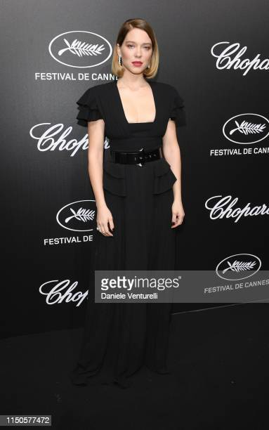 Léa Seydoux attends the The Chopard Trophy event during the 72nd annual Cannes Film Festival on May 20 2019 in Cannes France