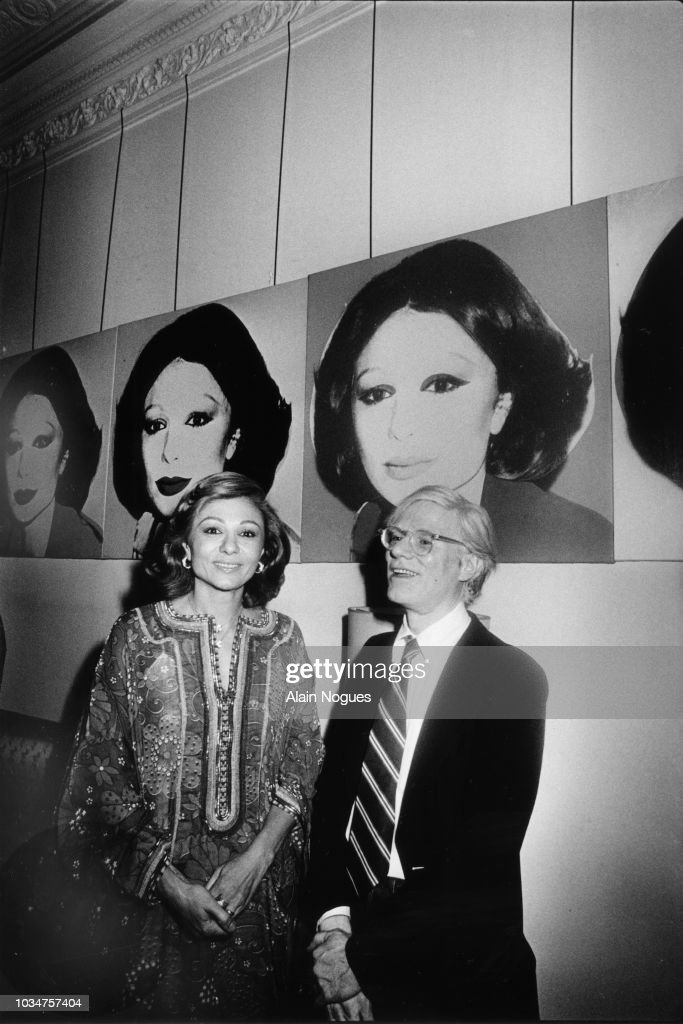 L'Imperatrice Farah Pahlavi et Andy Warhol : News Photo