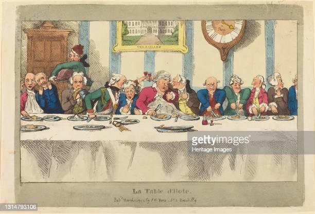 La Table d'Hote, published 1792. Artist Thomas Rowlandson.
