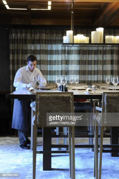 La Table en Partage of the restaurant 1947 chef Yannick Alleno star at Guide Michelin Gilles Hoang designer of the table Cheval Blanc Hotel and...