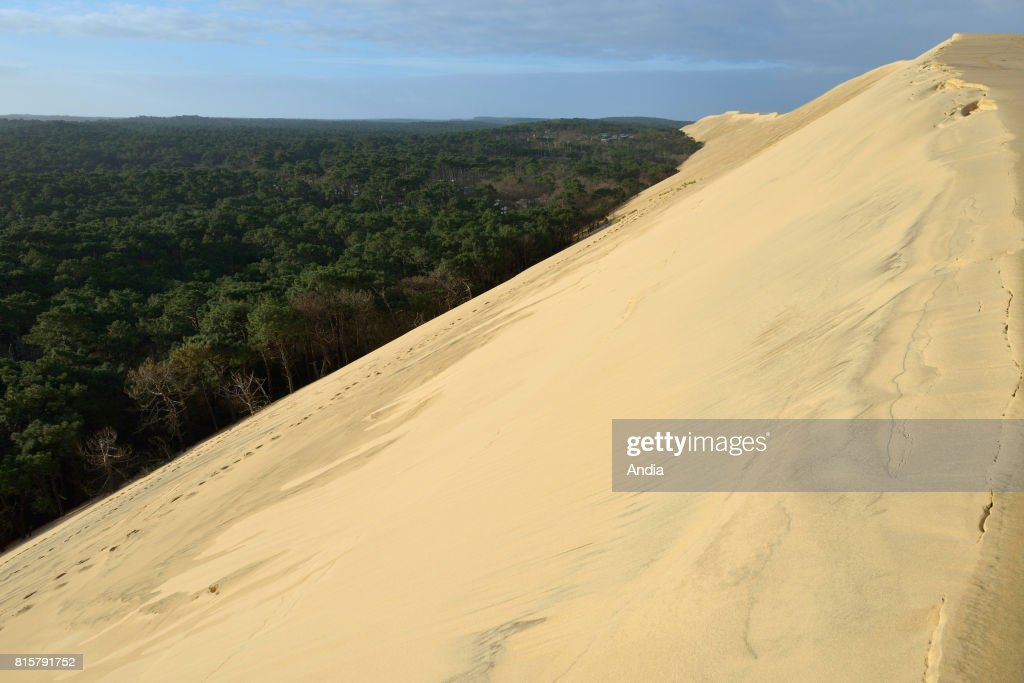 The Dune Of Pyla Situated In The Arcachon Bay The Dune And