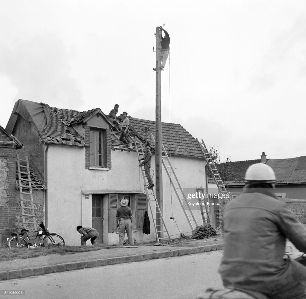 Maison Toit De France la toiture de cette maison a été soufflée par la tornade