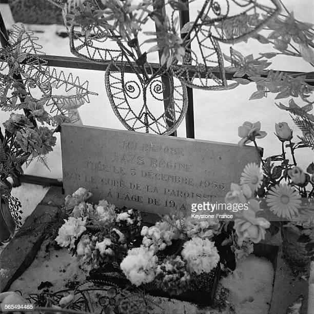 La tombe de la victime Régine Fays qui a eu une relation avec Guy Desnoyers curé de la paroisse d'Uruffe et qui a été assassinée par son amant en...