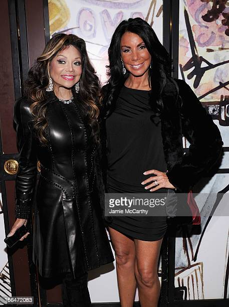 La Toya Jackson and Danielle Staub attend Henri Bendel holiday window unveiling 2012 at Henri Bendel on November 15 2012 in New York City
