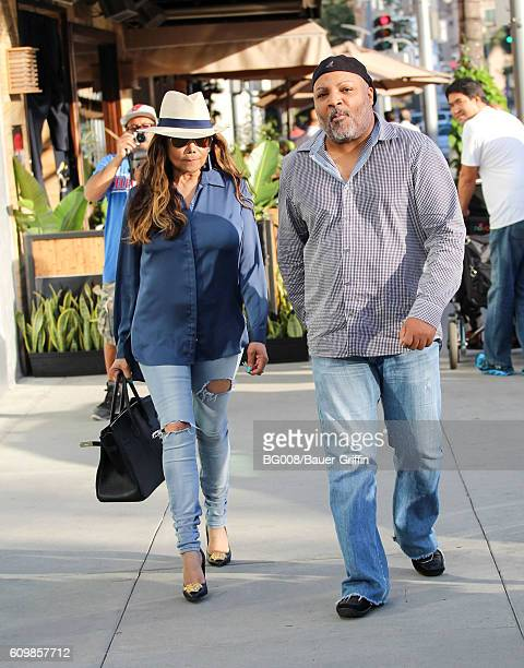 La Toya Jackson and Jeffre Phillips are seen on September 22 2016 in Los Angeles California