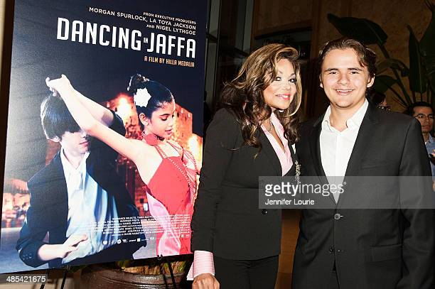La Toya Jackson and Prince Michael Jackson attend the 'Dancing In Jaffa' Los Angeles Screening hosted at the ICM Screening Room on April 17 2014 in...