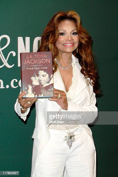 """La Toya Jackson arrives to sign copies of her new book """"Starting Over"""" at Barnes & Noble bookstore at The Grove on June 28, 2011 in Los Angeles,..."""