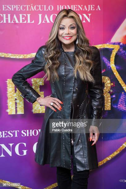 La Toya Jackson attends 'Forever' photocall at Eurostar Madrid Tower Hotel on May 21 2018 in Madrid Spain