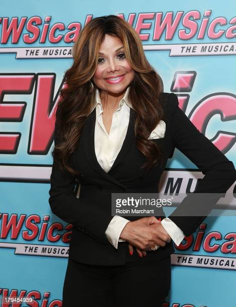 La Toya Jackson attends her debut performance in 'NEWSical The Musical' at The Kirk Theater at Theatre Row on September 3 2013 in New York City